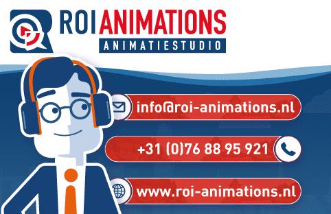 ROI animations - visitekaartje voorkant | animatiestudio Breda